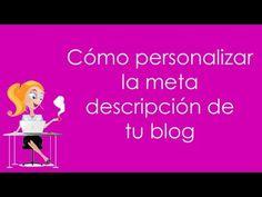 Mama quiero ser blogger: personalizar descripción del blog para buscadores