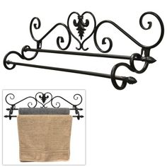 Elegance is always in style! Dress up your bathroom or kitchen with this gorgeous towel rack. https://www.mygift.com/home/bath/wall-mounted-scrollwork-design-2-tier-towel-bar-drying-rack.html