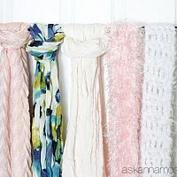 For years I stored my scarves in a basket in my closet, but I found th…