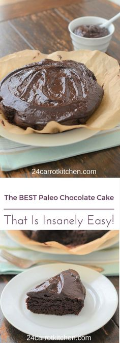 The BEST Paleo Chocolate Cake - Who would you share this with? Grain-free, gluten free and dairy free!