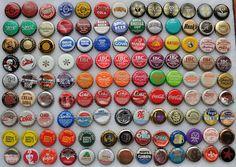 Soda bottle cap Typology. Photo by J. Fish.