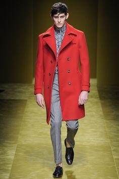 Rhys Pickering walking the Salvatore Ferragamo F/W16 runway. #menswear #malemodel #runway