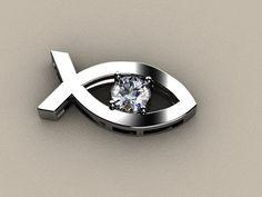Express yourself!  Necklace or tie tack!  CAD Design