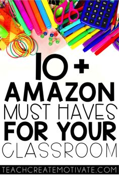 Looking for some awesome, unique must have supplies for your classroom and not sure where to buy them?  Look no further!  These 10  products from Amazon are perfect to keep your classroom organized and use every inch of your room effectively.   An amazing list of supplies that are great for new teachers and veteran teachers!  #classroomsupplies #Amazon #teachersupplies