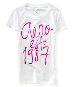 Camiseta Aerpostale Feminina AERO EST 1987 GRAPHIC - Branca - Figo Verde: Roupas importadas originais #camisetaaeropostale #aeropostale #aeropostalebrasil #femininoaeropostale