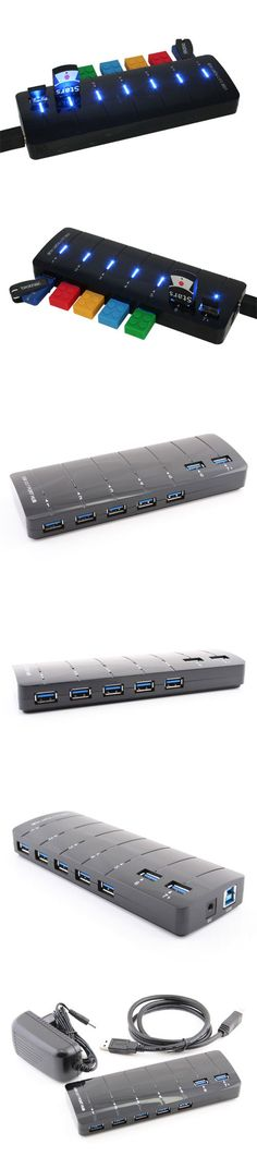 Seven Port USB 3.0 Hub Bar  http://www.usbgeek.com/products/seven-port-usb-3-0-hub-bar