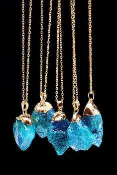"""- Gold plated chain approx. 21"""" length with 3"""" extension - Quartz pendant approx. 1 1/4"""" x 1"""" - Lobster claw clasp - Lead/Nickel compliant - Stone sizes and colors may vary"""