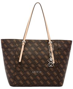 823cd09f5f32 GUESS Delaney Signature Small Classic Tote Handbags   Accessories - Macy s