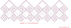 Free Online Kasuti Embroidery Tutorial Sample 3.4 - Conch Shell Border