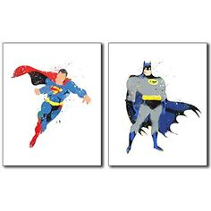 Superhero Wall Art Poster Prints | Accessories | Trendy Modern Home
