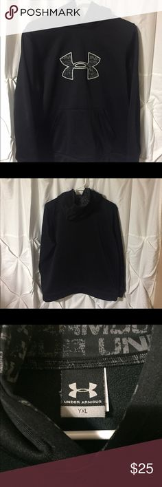 Youth Under Armour Hoodie - Size XL - Black Youth Under Armour Hoodie - Size XL - Black - pre owned, excellent condition- see pictures Under Armour Shirts & Tops Sweatshirts & Hoodies