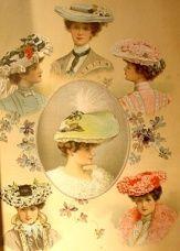 vintage Easter bonnets