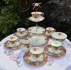 Victorian tea set...bring back elegance into your life. Invite people over for tea!