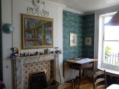 Marthe Armitage's handmade wallpaper