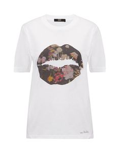 Alex Tee With Woodland Floral Smacker Lip Markus Lupfer, Girls Tees, Woodland, Mens Tops, T Shirt, Floral, Women, Fashion, Supreme T Shirt