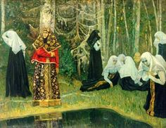 The Legend of the Invisible City of Kitezh - Mikhail Nesterov