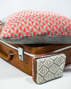 Knitted pattern cushion. 100% lambswool. #katievictoriadavies