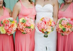 apricot and ivory bouquets | Sorrento Wedding Flowers | Hello Blossoms | Wedding Florist Mornington ...