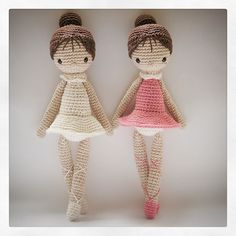 crochet doll amigurumi ballet ༺✿ƬⱤღ✿༻