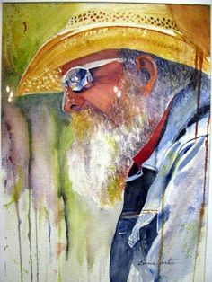 Watercolour. This makes me happy. Watercolor Techniques, Art Techniques, Watercolor Portraits, Watercolor Paintings, Watercolors, Painting People, Art For Art Sake, Face Art, Traditional Art