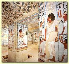 Mural de la tumba de Sennefer,  alcalde de la ciudad del sur de Tebas durante el reinado de Amenhotep II #Historia