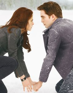 'Breaking Dawn Part 2'- officially a Cullen- both her and Edward wear theirs on their wrist