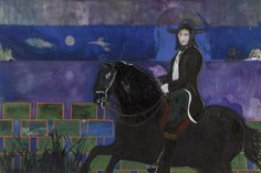 "Peter Doig, ""Horse and Rider,"" oil on canvas (2014) (all images courtesy Michael Werner Gallery)"