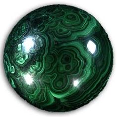 Malachite spheres polies