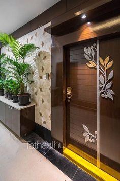 Door design modern 325736985551264965 – Home Decor – womenstyle. Pooja Room Door Design, Bedroom Door Design, Door Design Interior, Foyer Design, Entrance Design, Home Room Design, Ceiling Design, Wooden Main Door Design, Door Gate Design