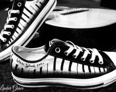 Piano Shoes Converse Womens Shoes by madeforyouart on Etsy