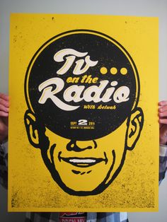 Poster for TV On The Radio's Detroit, MI show - Sept. 2, 2011