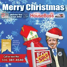 Merry Christmas from Houseboss.ca #littleguywithbigservice #Moncton #realestate Merry Christmas, Artist, Painting, Merry Little Christmas, Artists, Painting Art, Wish You Merry Christmas, Paintings, Painted Canvas