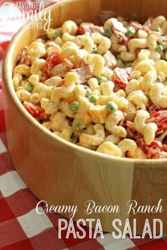 "This creamy bacon ranch pasta salad is the perfect salad for neighborhood BBQs or potlucks. You can get the dressing and toppings ready while the pasta is boiling and throw it all together just as fast as those boxed ""Suddenly Salad"" things. You will get more pasta salad and it tastes SO MUCH BETTER."