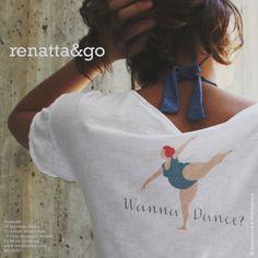 """Camiseta de algodón con print """"Wanna Dance"""" #moda"""