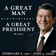 President Ronald Reagan born February 6, 1911, 103 years ago today.  God Bless Ronald Reagan