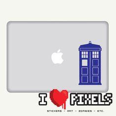 Doctor Who Tardis Sticker - Blue or White. $4.80, via Etsy.