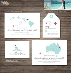 Hawaii Destination Wedding Invitation printables, beach wedding, Map invitation, Customized DIY wedding, Australia wedding by DallinsPaperie on Etsy https://www.etsy.com/listing/275946254/hawaii-destination-wedding-invitation