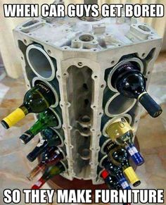 Alte Autoteile Upcycled Projekte – DIY Weinregal aus Motorblock – DIY Pr Old Car Parts Upcycled Projects – Porte-bouteilles à vin du bloc moteur – Pr … Related posts: Outstanding DIY projects are offered on our website. Car Part Furniture, Automotive Furniture, Automotive Decor, Garage Furniture, Automotive Group, Studio Furniture, Pallet Furniture, Furniture Plans, Welding Projects