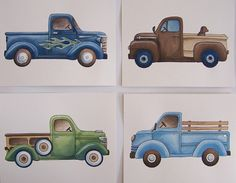 Etsy seller theprincessandpea - other transportation prints including firetrucks and race cars.