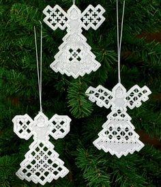Hardanger Angel Ornaments Kit