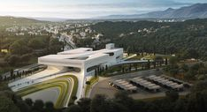 Proposal for new Archaeological Museum of Sparta. Architecture Student, Architecture Design, Future Buildings, Zaha Hadid Architects, Turin, Museum, Exterior, Mansions, House Styles