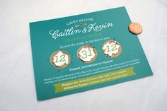 Scratch Off Save the Date Cards and Envelopes... these are brilliant!