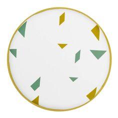 Meine Liebe - STUHLKISSEN SNAP • WEISS • Ø40cm - Kissen - Pillow - Heimtextilien - Modern - Geometric - Inspiration  Minimal and simple geometric elements.  Scandinavian home.  Found on: www.meineliebeshop.de