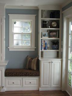 built in ideas for under/side of window