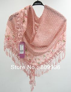 free shipping factory outlet! Women female fashion scarf,ladies' flower scarfs,silk copper cash lace scarves, all-match shawls