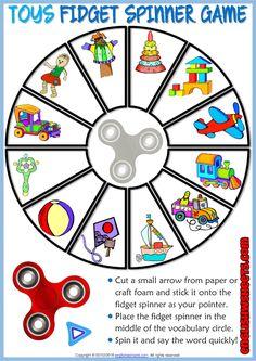 Toys ESL Printable Fidget Spinner Game For Kids