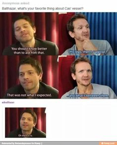 Cas and Balthazar Their faces in every one of these. Wasn't sure where to pin this, so it went to My Ships.