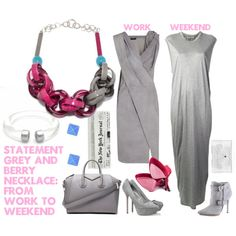 """statement necklace from work to weekend"" by styleosophy on Polyvore"