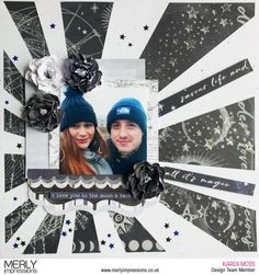 Monochrome black and white A beautiful layout created by for using the gorgeous Stargazer Kaisercraft collection, featuring the die… Kids Scrapbook, Scrapbook Page Layouts, Scrapbook Pages, Scrapbooking Ideas, Creative Memories, Layout Inspiration, Stargazing, Little Boys, Paper Crafts