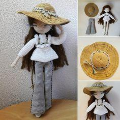 Tutoriels de crochet, Mariette - Crochet doll pattern est une création orginale de FlavieCrochette sur DaWanda